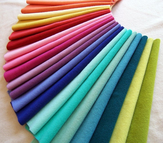 Hand Dyed Felted Wool Fabric For Rug Hooking Applique Penny