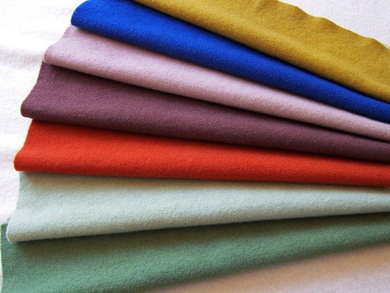 Primitive Colors in Hand Dyed Felted Wool Fabric for Rug Hooking, Applique, Penny Rugs and Sewing Projects/ H145