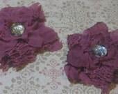 Linen Grunge Flowers