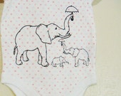 Elephant Onesie - Baby Girl - 3 to 6 Months