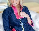 St. Barts Tunic- Navy/Pink