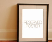 RESERVED ITEM - Custom poster for Heather