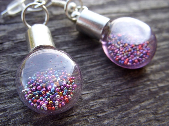 Rainbow magical love potion magic powder miniature light bulb mini bottle glass colorful color lolita kawaii honeysuckle phlox deep teal