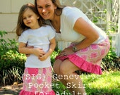 INSTANT Download SIG Genevieve Pocket Skirt - Sewing Pattern for ADULT size 0 to 14