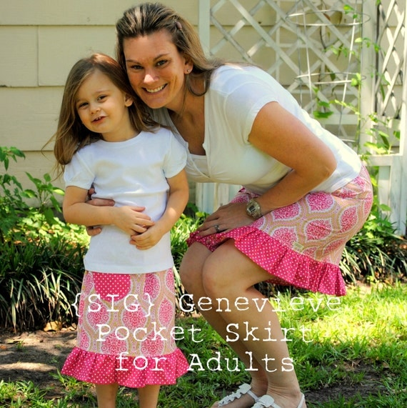Genevieve Pocket Skirt - Sewing Pattern for ADULT size 0 to 14