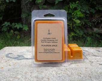 Pumpkin Spice Pure Soy Covington Creek Candle Company  Breakaway Melts. Stocking stuffer, teacher gift, travel, gift basket