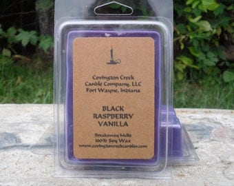Black Raspberry Vanilla Pure Soy Covington Creek Candle Company Breakaway Melts.