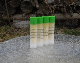 Rosemary Mint  Essential Oil Organic Lip Balm. Aloe Vera Oil,  Shea, Cocoa Butter, Jojoba, Pumpkin Seed Oil from Covington Creek Candles
