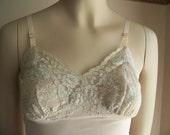 Vintage 1950s 1960s VAN RAALTE full lace bust slip in BLUSH