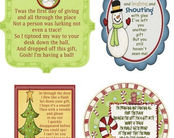 Secret Santa Gift Tag Poem -PDF File