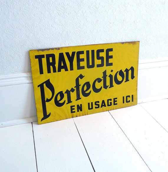 Old French Metal Sign