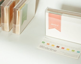 Thank You Card Stationery Set : Sucre Line