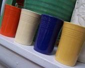 Fiestaware Juice Tumblers 1940s FIESTA  Homer laughlin Glass set lot