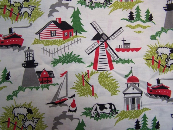 Juvenile fabric Vintage 58 inches