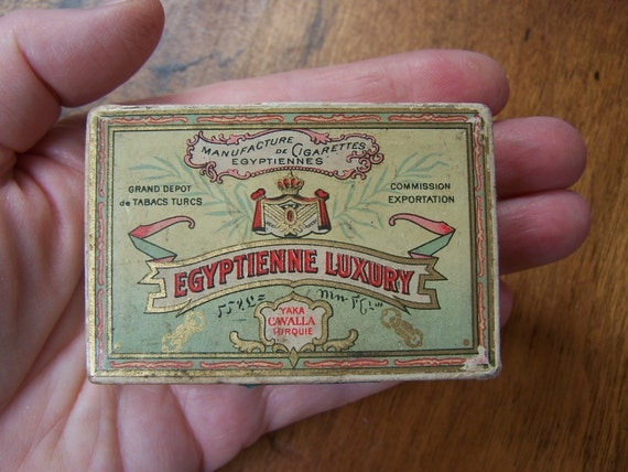 Reserved for Mary Sciascia  Tobacciania Egyptienne Luxry Cigarette Box Pack Unused 1910