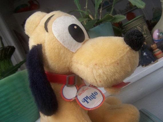 Pluto Stuffed toy Walt Disney Vintage Dog