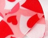 3/8 inch wide Grosgrain Ribbon--------1 YARD------CAMO HEARTS------