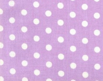 1 yard---SMALL Polka Dots--Lavender with White Dots----SALE SALE Sale