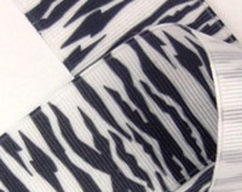 5/8 inch wide Grosgrain Ribbon---------1 YARD-------ZEBRA-------