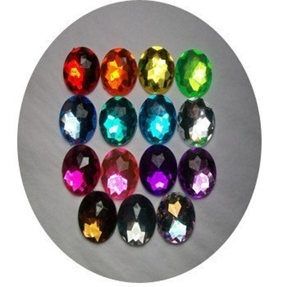 22mm Acrylic ROUND Rhinestones----LOT of 50-----YOU PICK COLORS------Silk Flowers----Hair Bows---Handbags