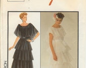 Formal Gown  Wedding Cocktail Evening wear Zandra Rhodes Pattern RARE 1986 sz10 SALE reflected