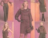 Butterick Pattern Dress Jacket Pants Blouse B5256 Year 2008 size 6 8 10 12