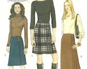 Vogue Pattern 7497 Skirt Kilt  year 2001 size 8 10 12