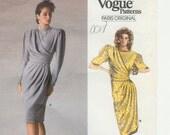 Vogue 1834 Vintage Emanuel Ungaro Dress Paris Original 1987 size 14 FF