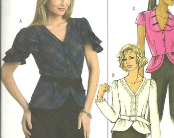 Butterick 4853 Pattern Blouse Size  14 16 18 20