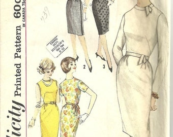 Simplicity Pattern Dress 1960s size Junior 11 Bust 31 1/2