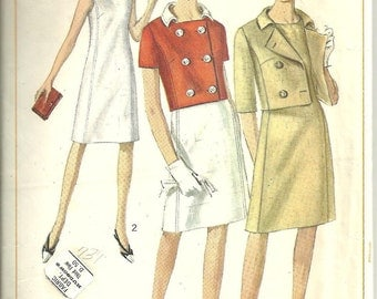 Simplicity Pattern Dress Jacket 1965 Vintage size 10