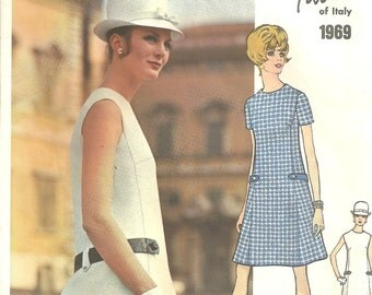 Vogue Couture 1969 Dress  Fabiani Size 12 SALE reflected