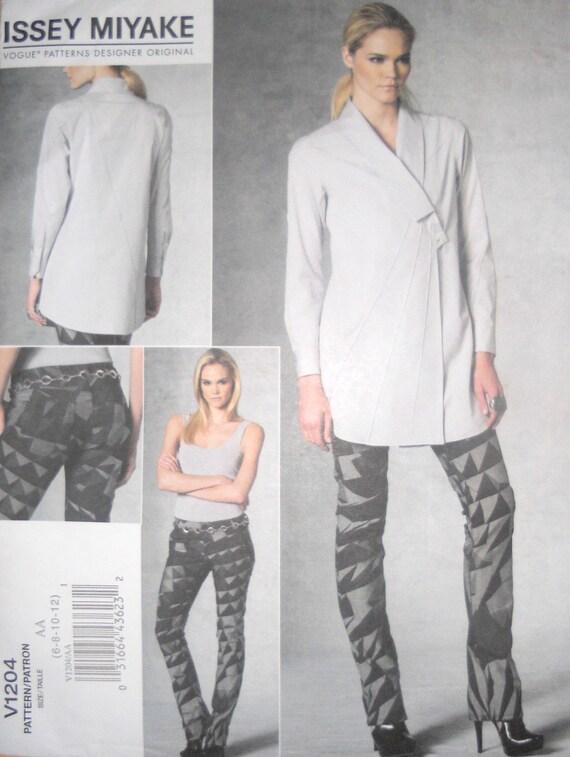 Vogue V1204 Issey Miyake Blouse Pant Tunic Top Jacket 2010  size FF