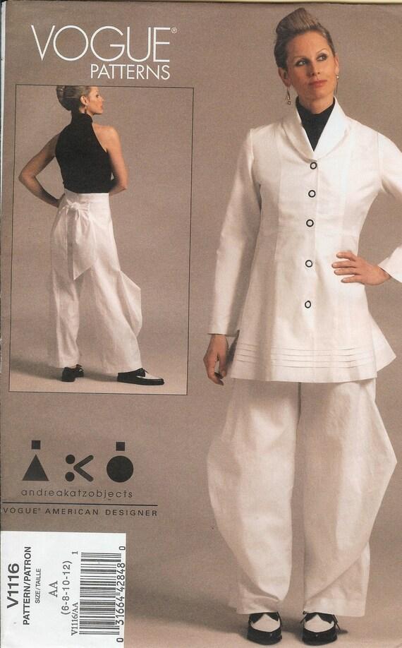 Vogue V1116  Jacket Pants andreakatzobjects 2009 sizes 6 8 10 12