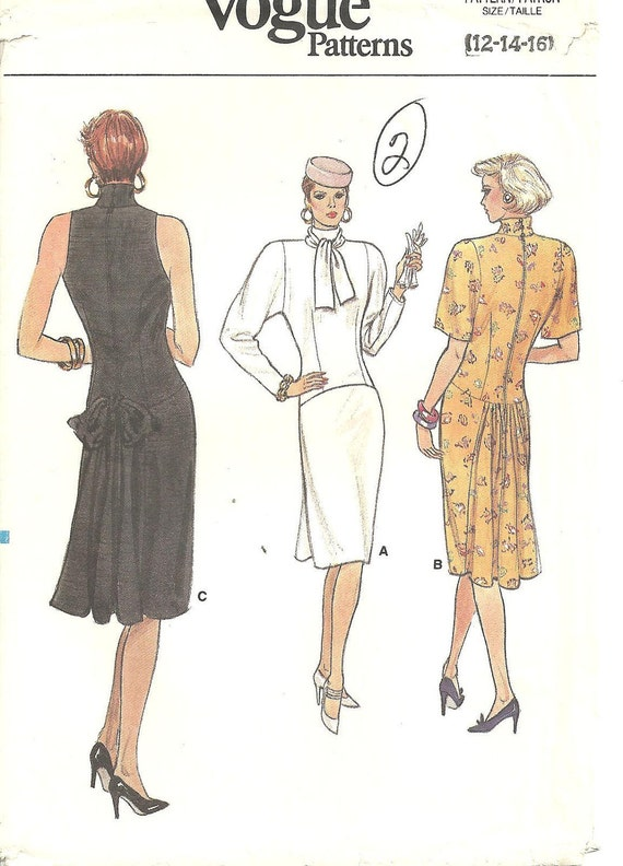 Reserved please for Wilma Vintage Vogue Pattern 9650 Dresses 3 Styles sz 12 14 16
