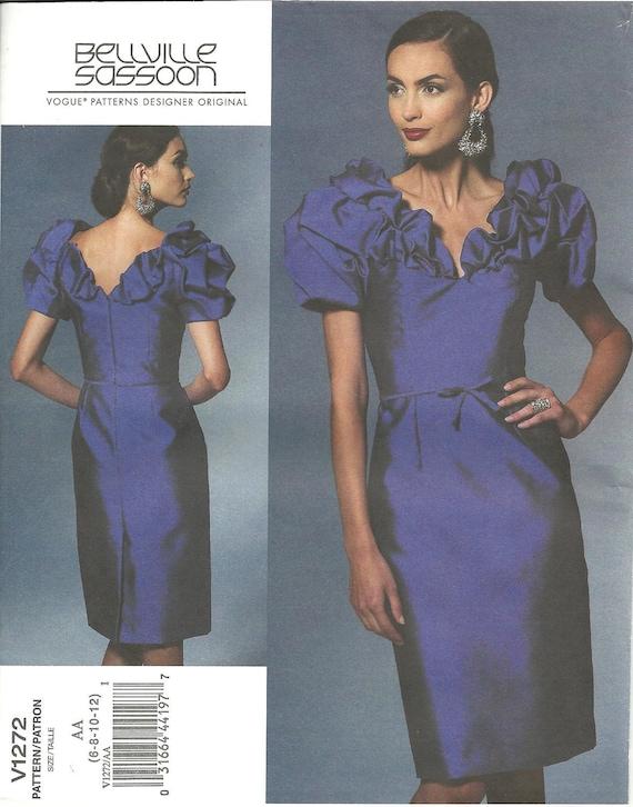 Vogue Designer Dress Pattern 1272 Bellville Sassoon sz 6-12 FF
