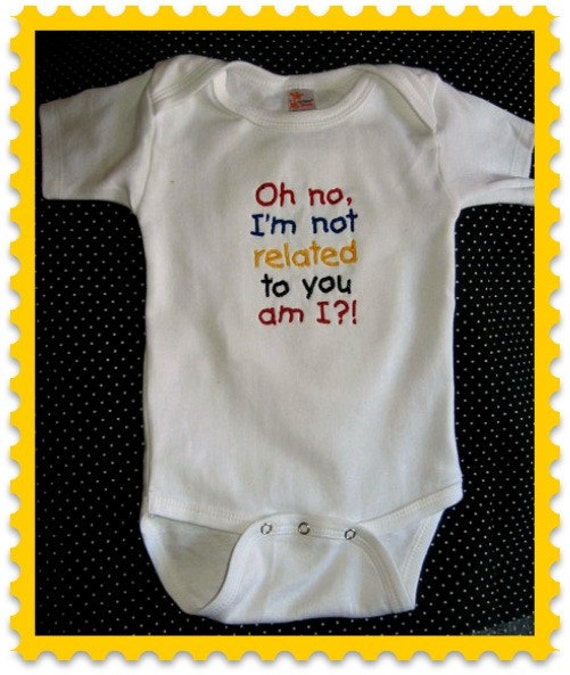 Cute funny baby saying one piece bodysuit