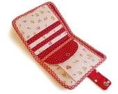 Bi fold wallet sewing pattern tutorial instructions ebook,zipper wallet pattern,coin purse/change purse pattern -- PDF files