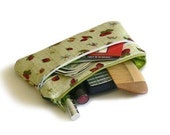 Pouches sewing pattern, makeup bag pattern, cosmetics bag pattern, with double zippers, three sizes  --- PDF