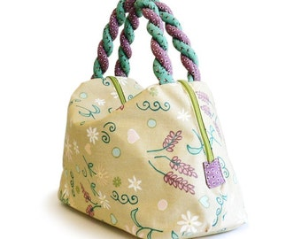 Bag sewing pattern PDF --- Summer's leaves
