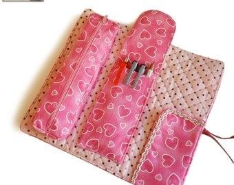 Roll up bag Sewing pattern, makeup bag pattern, cosmetic bag pattern, multifunction roll --- PDF files