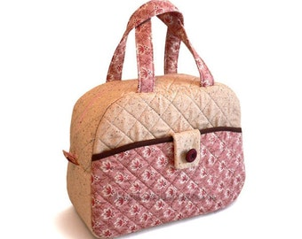 Quilted bag pattern tutorial Handbag Lunch bag pattern---Strawberry Cake