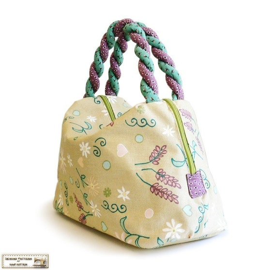 Bag sewing pattern PDF --- Summer's leaves