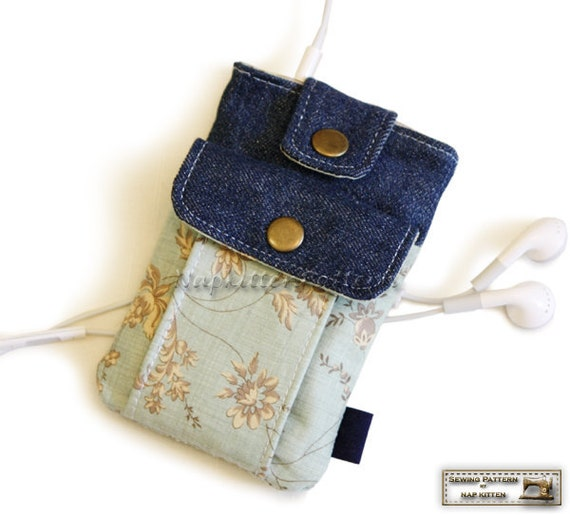 Iphone sleeve, Iphone bag for iphone 4, iphone 5,iphone 6/6s/SE,iphone 6 plus/6s plus sewing pattern/tutorial -- PDF file