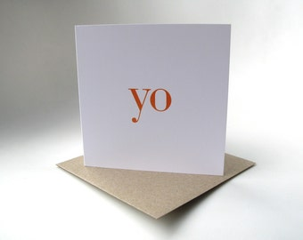 yo greeting card