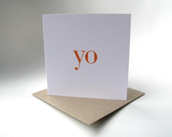 yo greeting card