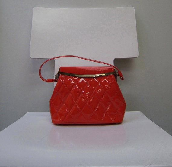 Quilted Patent Leather Vintage Handbag