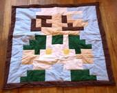 Lil Geek Luigi Crib Quilt, Classic Colors