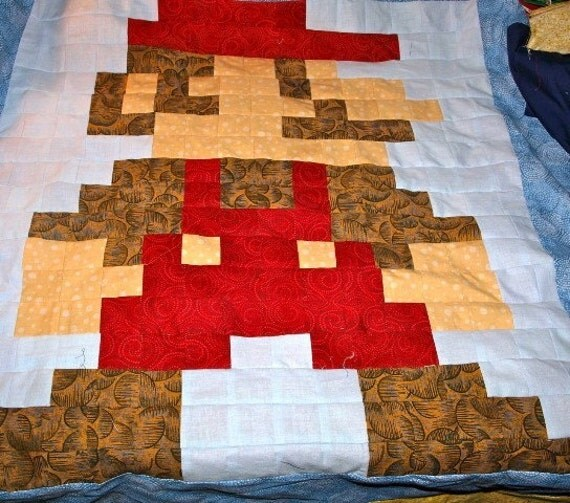 CUSTOM Lil Bigger Geek 8-Bit Video Game Quilt Gaming Size : 8 bit quilt - Adamdwight.com