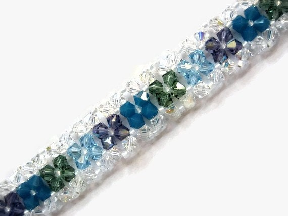 Right Angle Crystal : Swarovski crystal bracelet seed bead right angle by joanngirls
